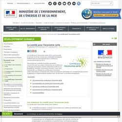 Le comité pour l'économie verte - Ministère de l'Environnement, de l'Energie et de la Mer