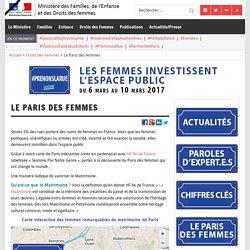 Le Paris des femmes – Ministère des Familles, de l'Enfance et des Droits des femmes