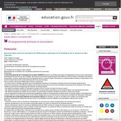 Accord cadre entre le ministère de l'Éducation nationale et le ministère de la Justice et des Libertés - MENE1001062X