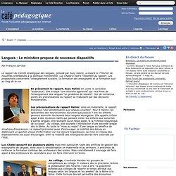 Langues : Le ministère propose de nouveaux dispositifs