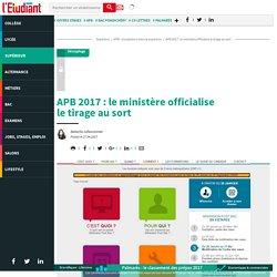 APB 2017 : le ministère officialise letirageausort - L'Etudiant