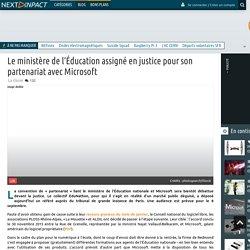 Le ministère de l'Éducation assigné en justice pour son partenariat avec Microsoft