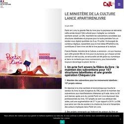 Le ministère de la Culture lance #PartirEnLivre – Partir en livre La grande fête du livre pour la jeunesse