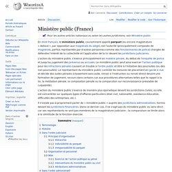 Ministère public (France)
