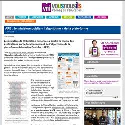 APB : le ministère publie «l'algorithme» de la plate-forme