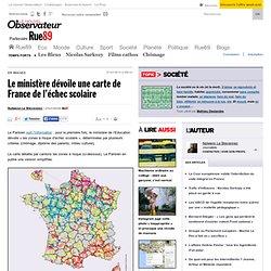 Le ministère dévoile une carte de France de l'échec scolaire