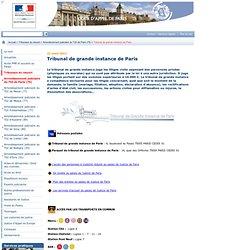Ministère de la Justice - CA Paris : Tribunal de grande instance de Paris
