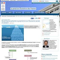 Benoît Hamon présente le projet de loi sur l'Economie sociale et solidaire