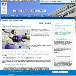 Création du brevet européen