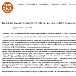 Page d'accueil - Troisième groupe de travail ministériel sur la circulaire de missions des documentalistes