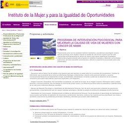 Ministerio de Sanidad, Servicios Sociales e Igualdad - Instituto de la Mujer - Programas y actividades