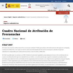 Ministerio de Economía y Empresa - Cuadro Nacional de Atribución de Frecuencias