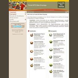 Ministério do Trabalho e Emprego. M.T.E. - Portal MTE Mais Emprego