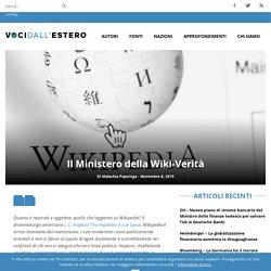 Il Ministero della Wiki-Verità