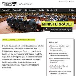 Ministerrådet - Sveriges riksdags EU-information