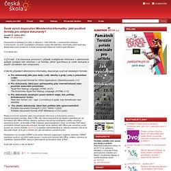 Šesté výročí doporučení Ministerstva informatiky: jaké používat formáty pro veřejné dokumenty?