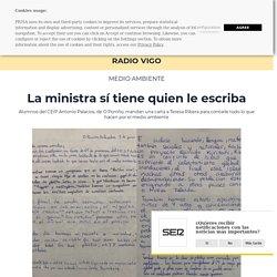 La ministra sí tiene quien le escriba