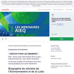 Vision du ministre Benoit Charette sur une économie verte Billets, lun, 29 juin 2020 à 13:00