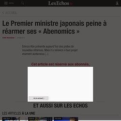 Le Premier ministre japonais peine à réarmer ses «Abenomics», Asie - Pacifique