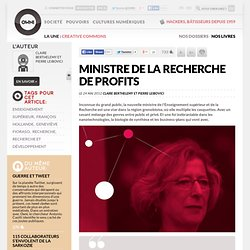 Ministre de la recherche de profits