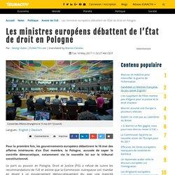Les ministres européens débattent de l'État de droit en Pologne – EURACTIV.fr