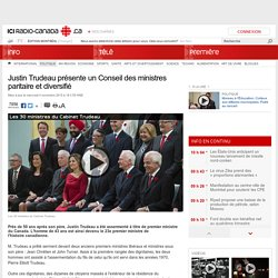 Justin Trudeau présente un Conseil des ministres paritaire et diversifié