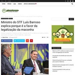 Ministro Luís Barroso explica porque é a favor da legalização da maconha