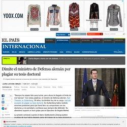 El País - Dimite el ministro de Defensa alemán por plagiar su tesis doctoral (en este caso es un caballero)