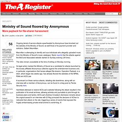 Ministry of Sound floored by Anonymous