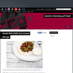 Good old chilli con carne recipe