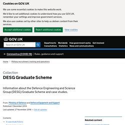 Ministry of Defence | About Defence | What we do | Science and Technology | DESG | DESG Homepage