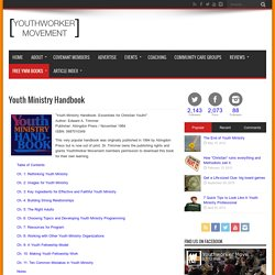 Youth Ministry Handbook - YouthWorker Movement