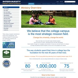 Ministry Overview - About - intervarsity.org