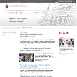 Kormányzat - Miniszterelnöki Kabinetiroda - Digitális Jólét Program
