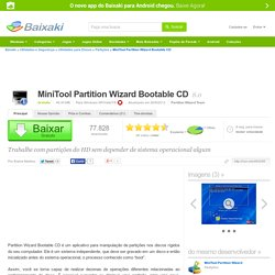 MiniTool Partition Wizard Bootable CD download