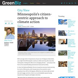 Minneapolis's citizen-centric approach to climate action