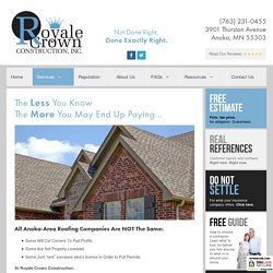 Roofing anoka