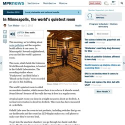 In Minneapolis, the world's quietest room