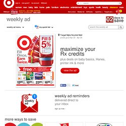 My TargetWeekly : The deals you want. The way you want them.(SM)