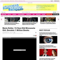 Maria Keller, 13-Year-Old Minnesota Girl, Donates 1 Million Books