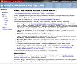 Silver - Minnesota Extensible Language Tools