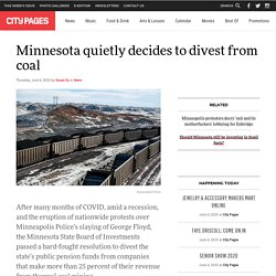Minnesota quietly decides to divest from coal