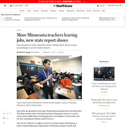 More Minnesota teachers leaving jobs, new state report shows