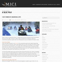 Minnesota Trail Snowmobile Apps
