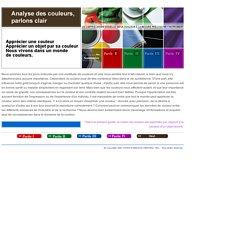 ANALYSE DES COULEURS, PARLONS CLAIR (KONICA MINOLT)