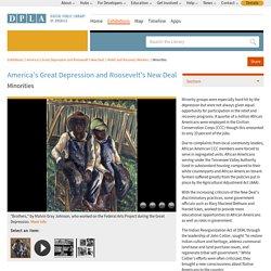 Minorities · America's Great Depression and Roosevelt's New Deal · DPLA Omeka
