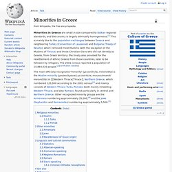 Minorities in Greece