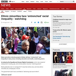 Ethnic minorities face 'entrenched' racial inequality - watchdog