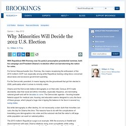 Why Minorities Will Decide the 2012 U.S. Election