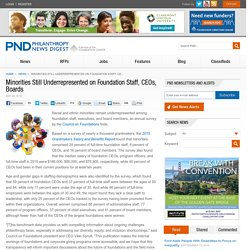 Minorities Still Underrepresented on Foundation Staff, CEOs, Boards